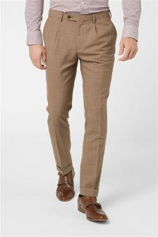 Textured Skinny Fit Suit: Trousers