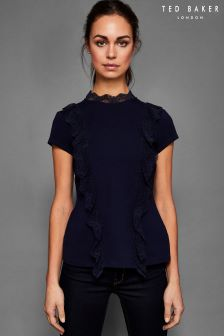 Ted Baker Tuloula Navy Trim Detail Tee