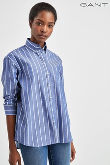 GANT Blue Striped Chambray Shirt