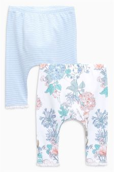 Stripe And Floral Leggings Two Pack (0mths-2yrs)