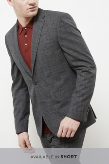 Textured Check Slim Fit Suit