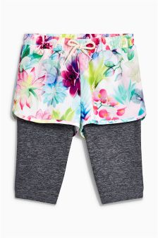 Double Layer Sporty Shorts And Leggings (3-16yrs)