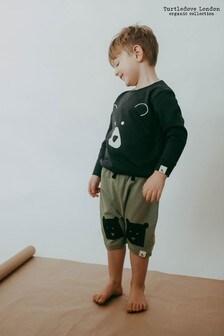Turtledove London Khaki Organic Cotton Cub Knee Shorts