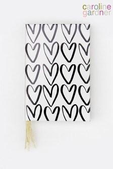 Caroline Gardner Hearts Outline Multi Ribbon Notebook