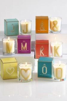 Monongram Candle