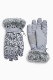 Leopard Ski Mitts (Older)