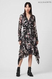 AllSaints Butterfly Wing Liza Midi Dress