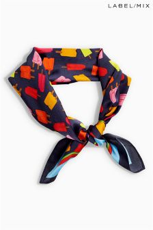 Mix/J.Won Popsicle Print Silk Scarf