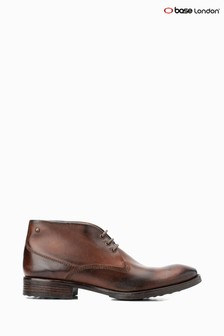 Base London® Brown Bramley Burnished Lace-Up Chukka Boots