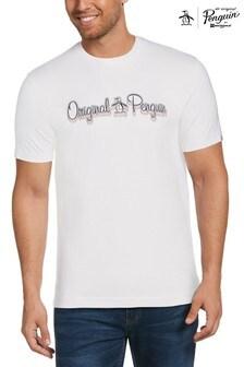 Original Penguin® White 3D Script Logo T-Shirt