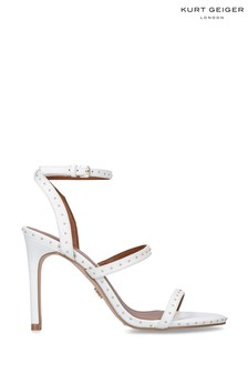 Kurt Geiger London White Portia Heels