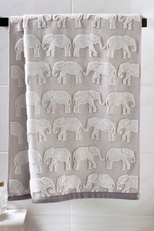 Elephant Jacquard Towels
