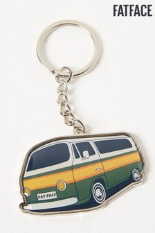 FatFace Silver Camper Keyring