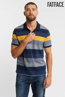 FatFace Blue Chidden Stripe Polo
