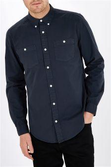 Long Sleeve Garment Dye Shirt