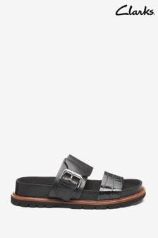 Clarks Black Combi Lea Orianna Sun Sandals