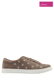 Joules Grey Solena Luxe Cupsole Trainers