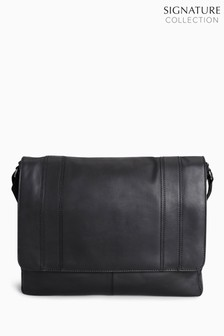 fd30ca1a0 Signature Leather Panelled Messenger