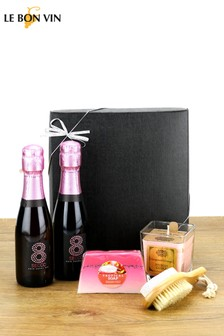 Le Bon Vin Sparkling Rosé Mini Break Spa Gift