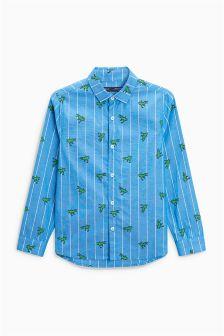 Long Sleeve Dino Print Shirt (3-16yrs)
