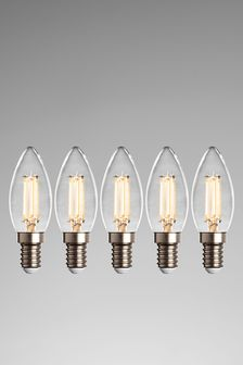 5 Pack 4W LED SES Candle Dimmable Bulb
