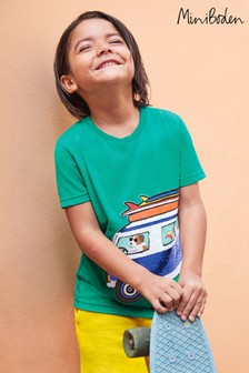 Mini Boden Green Colour Change Sequin T-Shirt