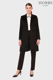 Hobbs Black Petite Tilda Coat