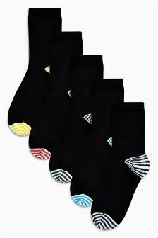 Pastel Stripe Ankle Socks Five Pack