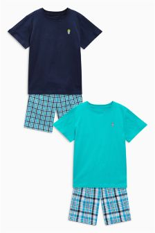 Check Woven Pyjamas Two Pack (3-16mths)