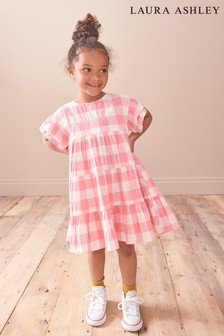 Laura Ashley Younger Girl Pink Gingham Dress