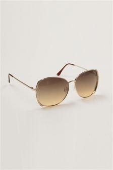 Diamanté Square Sunglasses