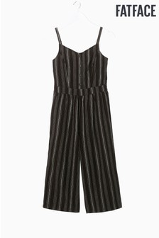FatFace Black Talli Stripe Jumpsuit