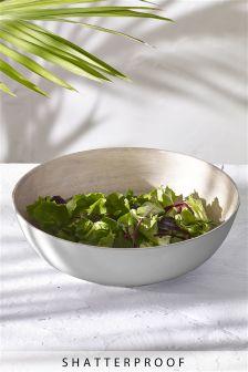 Wood Effect Melamine Serve Bowl