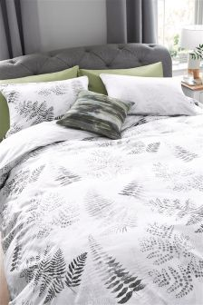 Комплект постельного белья с принтом папоротника