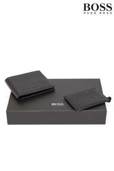 BOSS Embossed Wallet Gift Set
