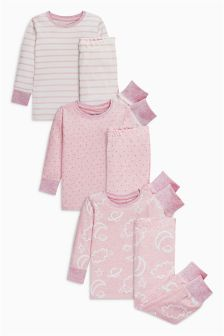 Cloud Snuggle Pyjamas Three Pack (9mths-8yrs)