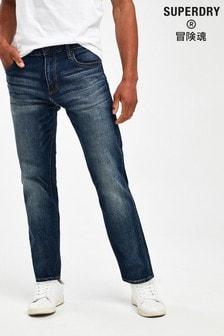 جينز ضيق أزرق متوسط من Superdry
