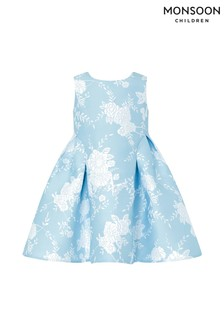 Monsoon Blue Baby Avery Jacquard Dress