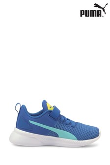 Puma Blue Flyer Runner Velcro Youth Trainers