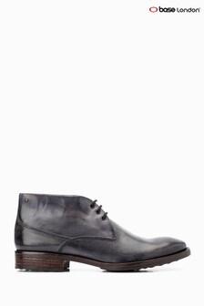 Base London® Grey Bramley Burnished Lace-Up Chukka Boots