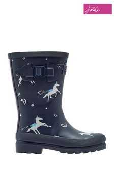 Joules Blue Girls Printed Welly