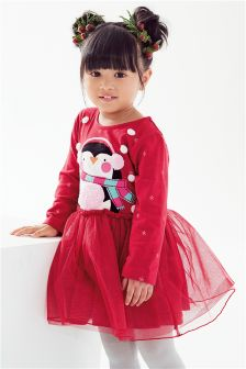 Xmas Penguin Dress (3mths-6yrs)