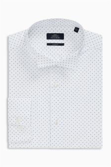 Printed Wing Collar Slim Fit Shirt