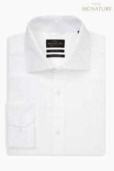 Фирменная рубашка классического кроя из ткани премиум-класса
