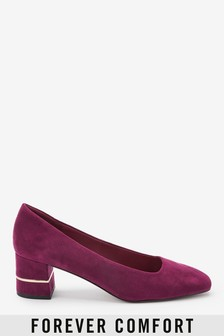 Square Toe Block Court Shoes