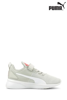 Puma Grey Flyer Runner Velcro Youth Trainers
