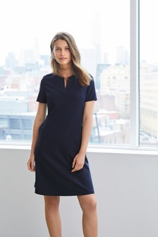 Notch Neck Shift Dress