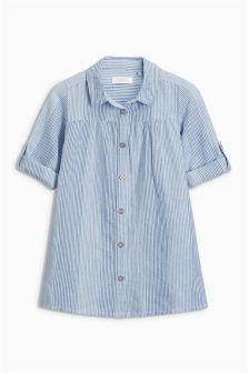 细条纹衬衫式连衣裙 (3个月-6岁)