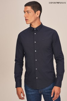 Emporio Armani Navy Long Sleeve Shirt