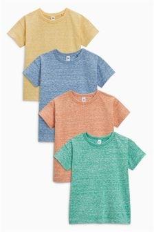 Kurzärmelige T-Shirts mit Struktur im 4er-Pack (3Monate bis 6Jahre)